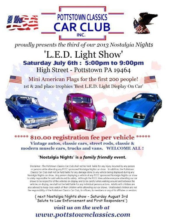 July Car Show flyer