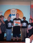 "Left to right Sheila Dugan, Gene ""Grumpy"" Dugan, Isaiah Robinson (winner), Adrianna Douglas and Ronni Yerk .   Isaiah Robinson and Keelan Warren were the winners.   Keelan Warren was not available for the photograph."