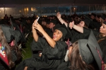 """Grad 1: Graduates take selfies during Montgomery County Community College's 2014 Commencement ceremony on May 15, creating a unique """"digital moment."""" Photo by John Welsh"""