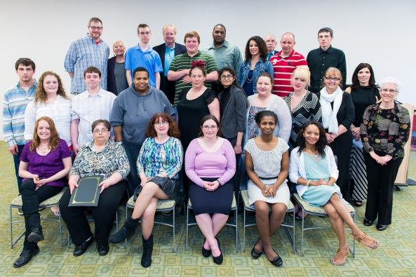 POWER and POWER Plus Program participants and staff at April 2014 graduation ceremony.  Photo by Sandi Yanisko