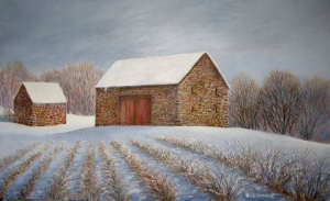 "Julie Longacre:  ""Rows into Winter"" by Julie Longacre, Barto."