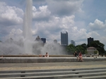 Downtown Pittsburgh as seen from the fountain at Point State Park