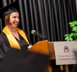 GED 1: Student speaker Jamie Gehman, Lower Pottsgrove, addresses her fellow graduates.Photos by Sandi Yanisko