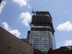 New 33 story PNC Tower under construction in downtown Pittsburgh