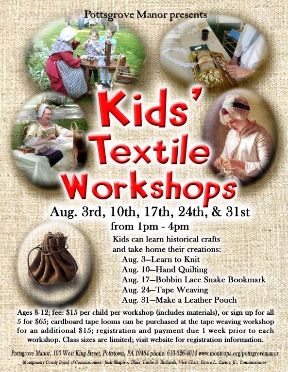 Kids Textile wkshops poster.pub