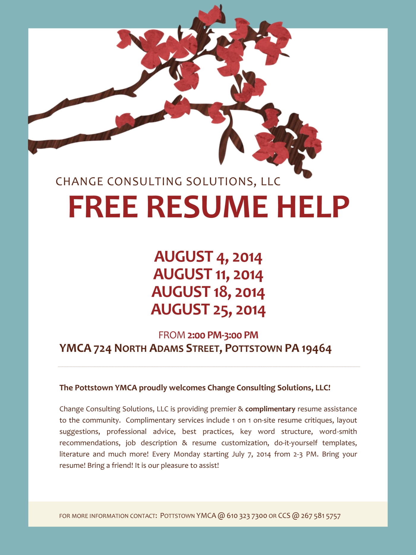 Free Resume Help At Pottstown Ymca Roys Rants For Your Information