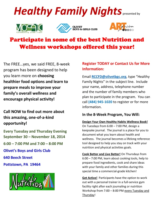 Healthy Family Nights Flyer