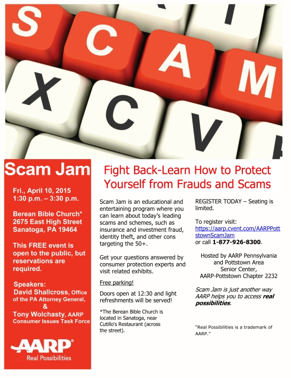 SCAM JAM FLYER with Names (Pottstown)