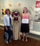 Winner Jennifer Miller with her art teacher Tracey Schiavello