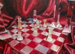 """Checkmate"" by Jennifer Miller (oil painting)"