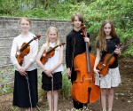 Quartet: Dolce String Quartet with violinist Rachel Sigler of Gilbertsville, who is home-schooled, violinist Bryn Borzillo and violist Emily Adams of Royersford, sixth graders at Springford 5-6 Center, and cellist Sarah Lesher of Telford, a seventh grader at Indian Crest Middle School won second place in the Junior Ensemble Division. Photo courtesy of Tri-County Concerts Associations, Inc.