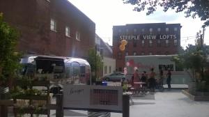 Coffee and ice cream vendors