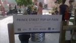 Pop up park signage