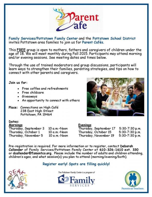 Parent Cafe flyer Fall 2015