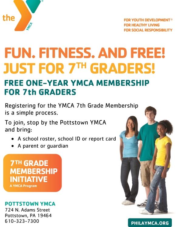 7th Grade Membership Flyer (Pottstown YMCA) - 2013.ai