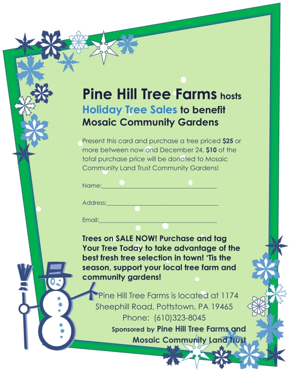 Holiday Tree Sales Flyer 2015