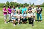 LEARNING WOMEN: The Montgomery County Community College Foundation's Leading Women Symposium and Gold Experience provides women the opportunity to learn golf in a friendly and fun setting. Here, Leading Women Learners are pictured with PGA Professional Instructor Lou Guzzi. Photo by Sandi Yanisko