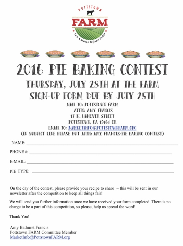 Pottstown Farm pie baking contest